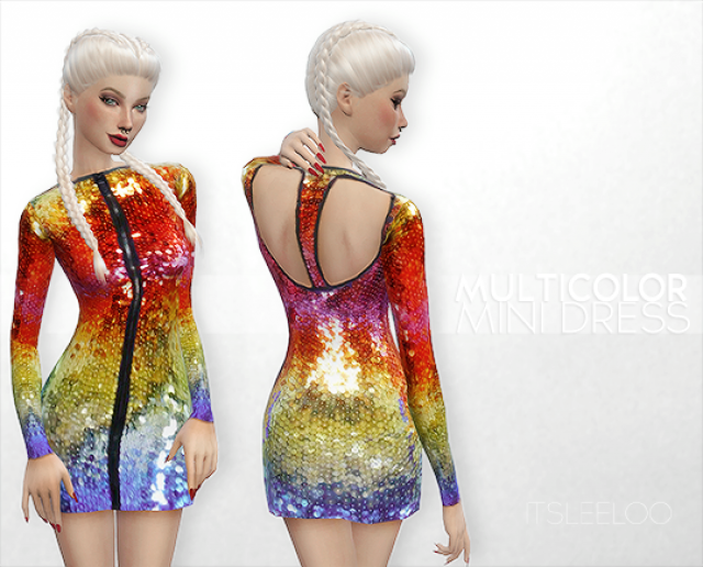 MULTICOLOR MINI DRESS by its-leeloo