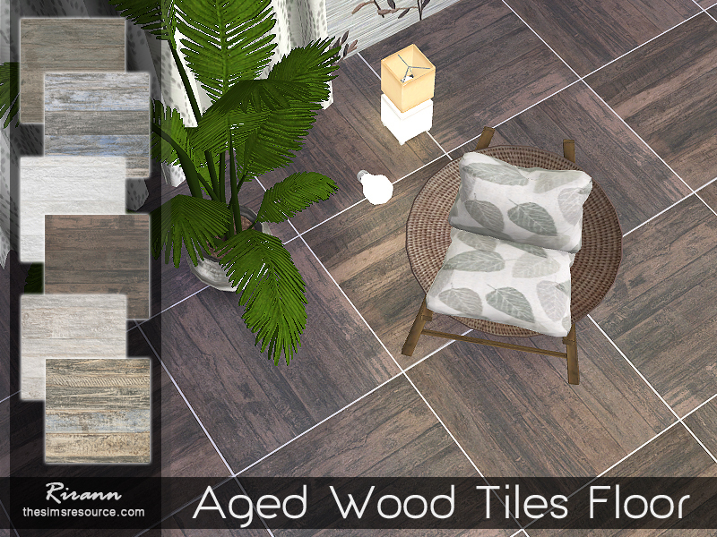 Aged Wood Tiles Floor  BY Rirann