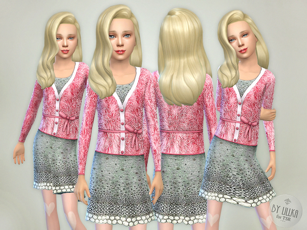 Pink Sweater with Skirt by lillka