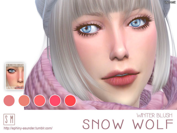 [ Snow Wolf ] - Winter Blush by Screaming Mustard