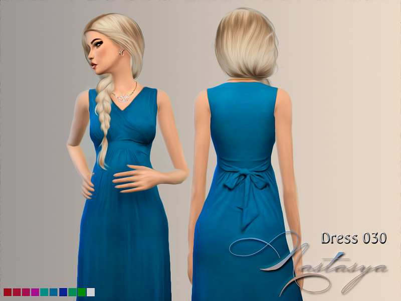 Dress Maternity Sleeveless Maxi 030 BY Nastas'ya