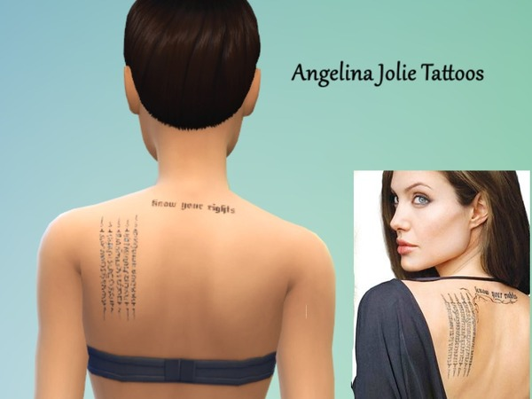 Angelina Jolie Tattoos by Sohviax
