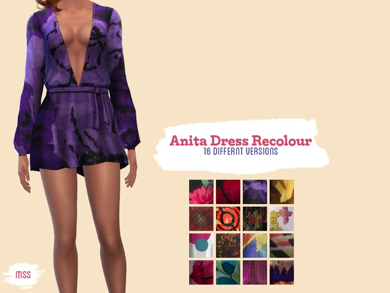 Anita Dress Recolour - mesh needed  BY midnightskysims