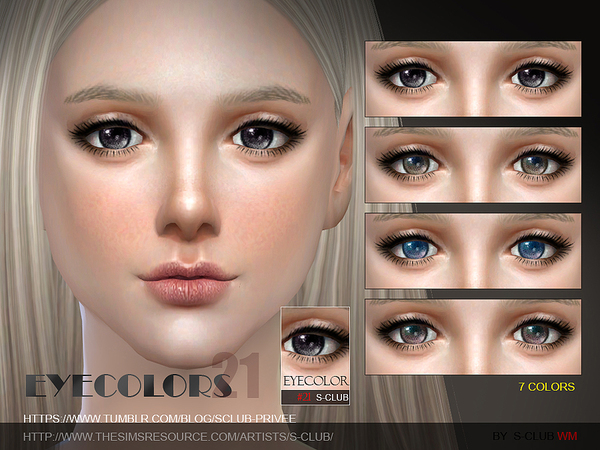 S-Club WM thesims4 Eyecolor 21