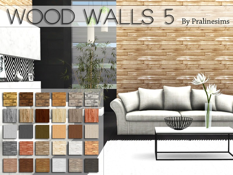 Wood Walls 5  BY Pralinesims