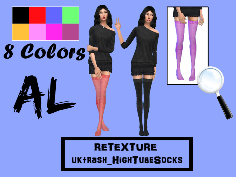 AL - RETEXTURE uktrash_HighTubeSocks BY Arthur Lumire