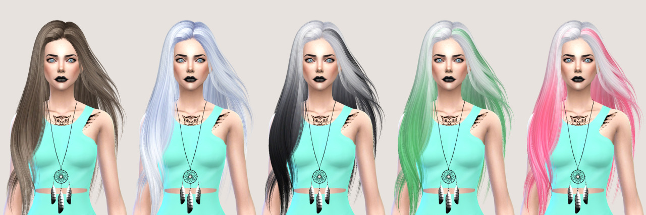 salem2342 Skysims Hair 251 Retexture (TS4)