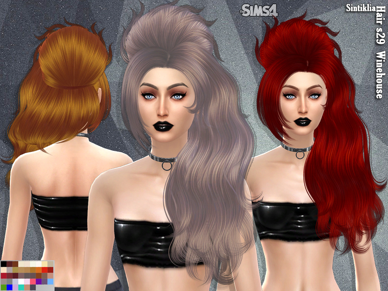 Sintiklia - Hair s29 Winehouse BY SintikliaSims