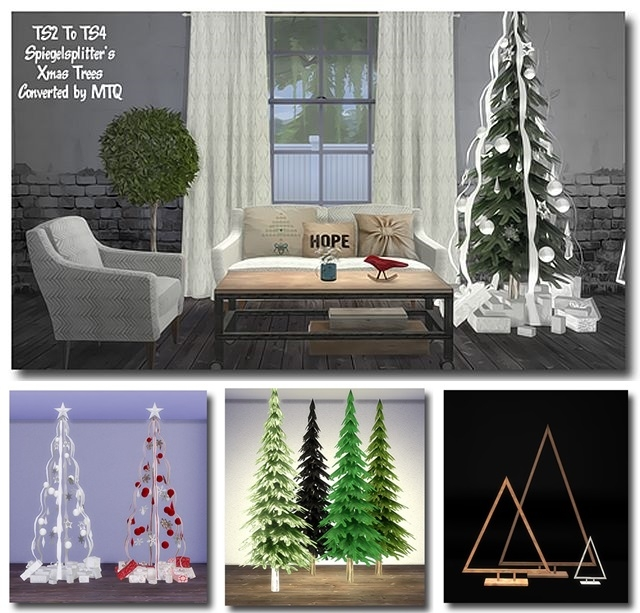 TS2 Spiegelsplitters Christmas Trees Conversion by MsTeaQueen
