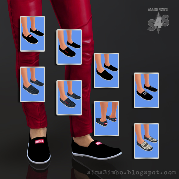 MALE SHOES 01 AT IMHO SIMS 4 Male Shoes 01 by IMHO