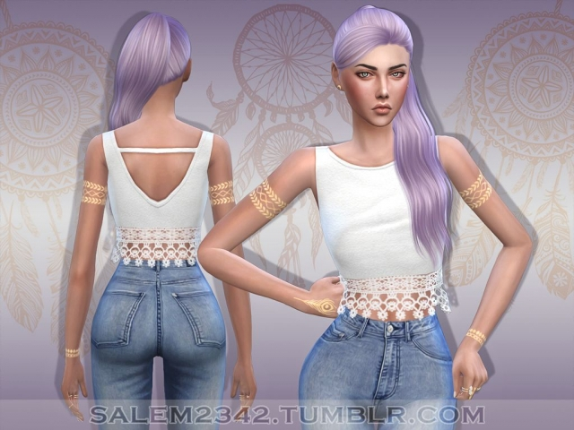 Lace Crop Top by Salem2342