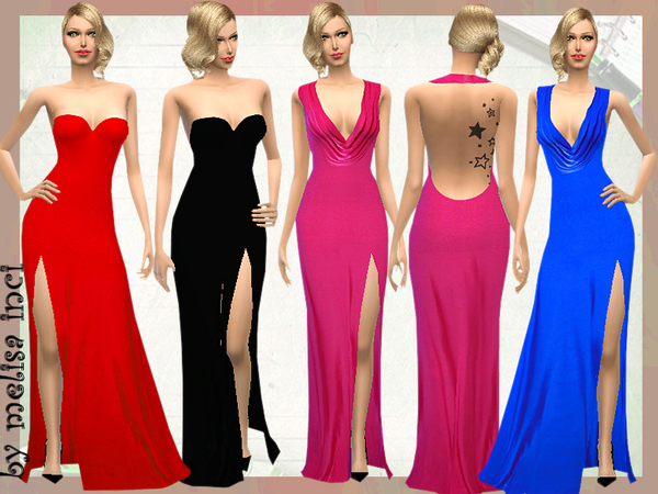 Bright Floor Length Dress by melisa inci