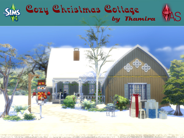 Cozy Christmas Cottage by Thamira