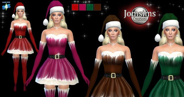 Santa Beanie and Dress long and short by JomSims