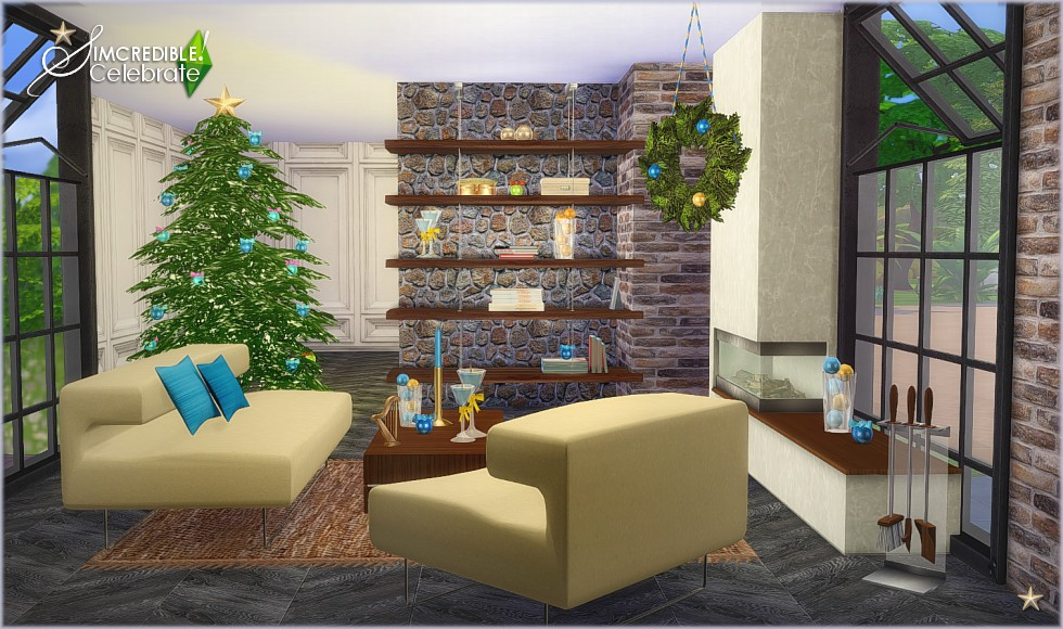 CELEBRATE! DECORATED LIVING FOR CHRISTMAS   By  SIMCREDIBLE! DESIGNS 4