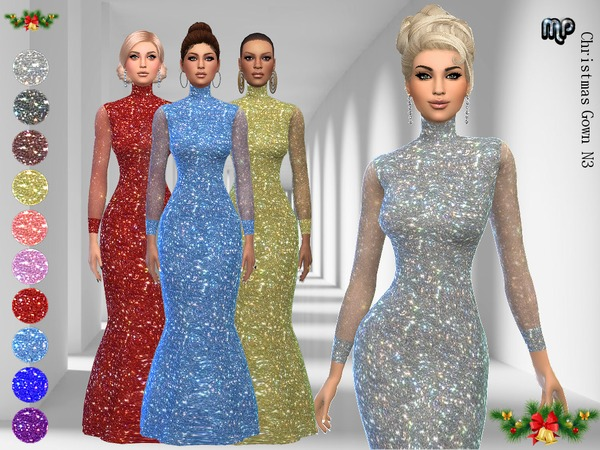 Christmas Gown N3 by MartyP