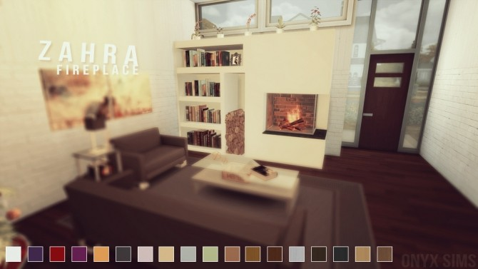 ZAHRA FIREPLACE SET By ONYX SIMS