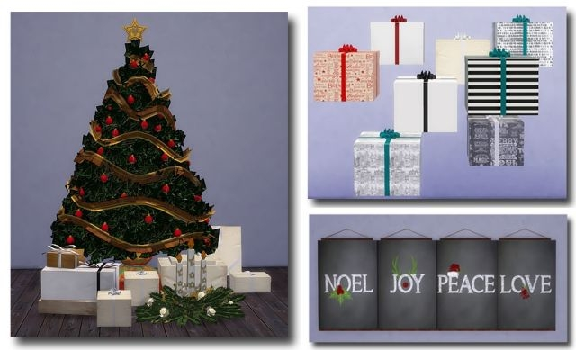 TS2 To TS4 - Christmas Tree, Gifts, & Painting by MsTeaQueen
