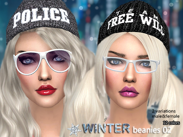 Winter beanies 02 by Pinkzombiecupcakes