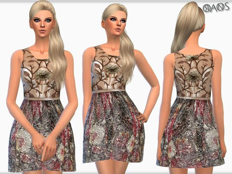 Metallic Brocade Mini Dress BY OranosTR