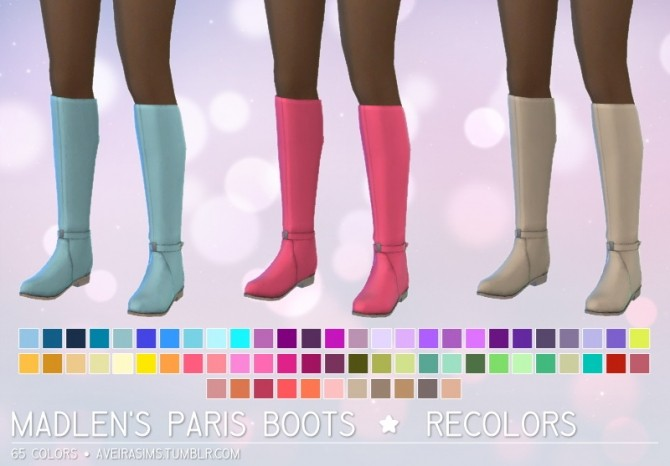 MADLENS PARIS BOOTS RECOLORS By AVEIRA SIMS 4