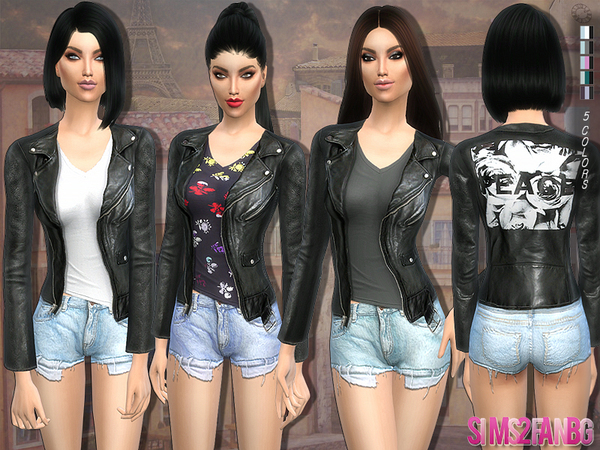 120 - Outfit with leather jacket by sims2fanbg