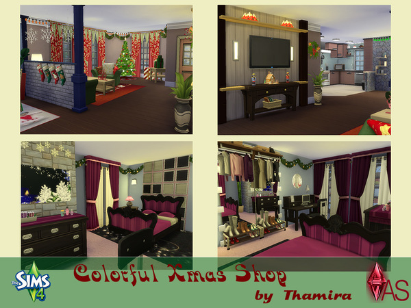 Colorful Xmas Shop by Thamira