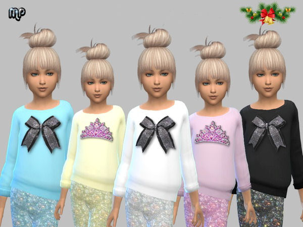 MP STENCIL TOPS WITH GLITTER PANTS By BTB SIMS