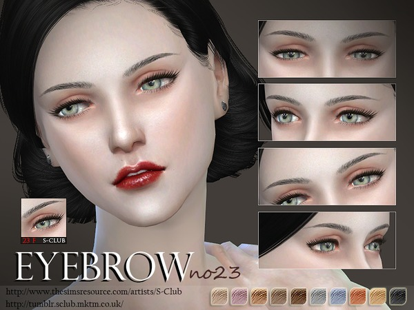 S-Club LL thesims4 Eyebrows 23F