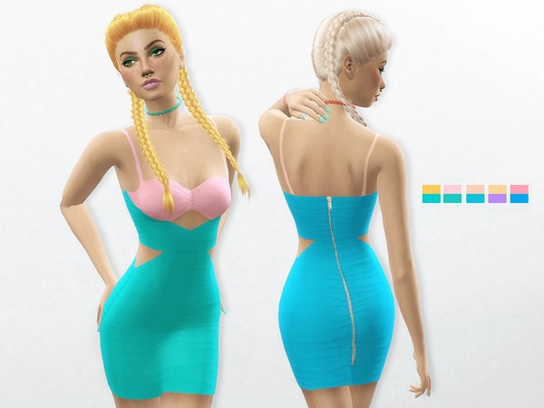 Two-tone Bodycon Dress by itsleeloo