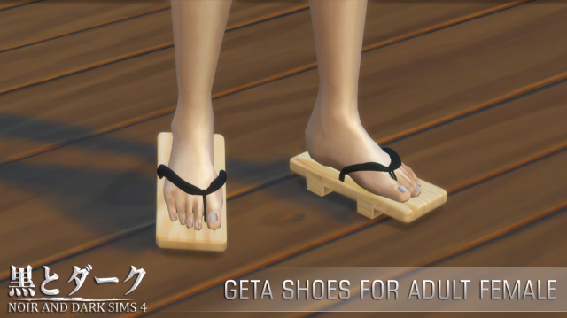 Geta Shoes for Adult Female by Noiranddarksims
