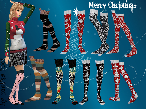 Christmas Pattern Socks Pack by melisa inci
