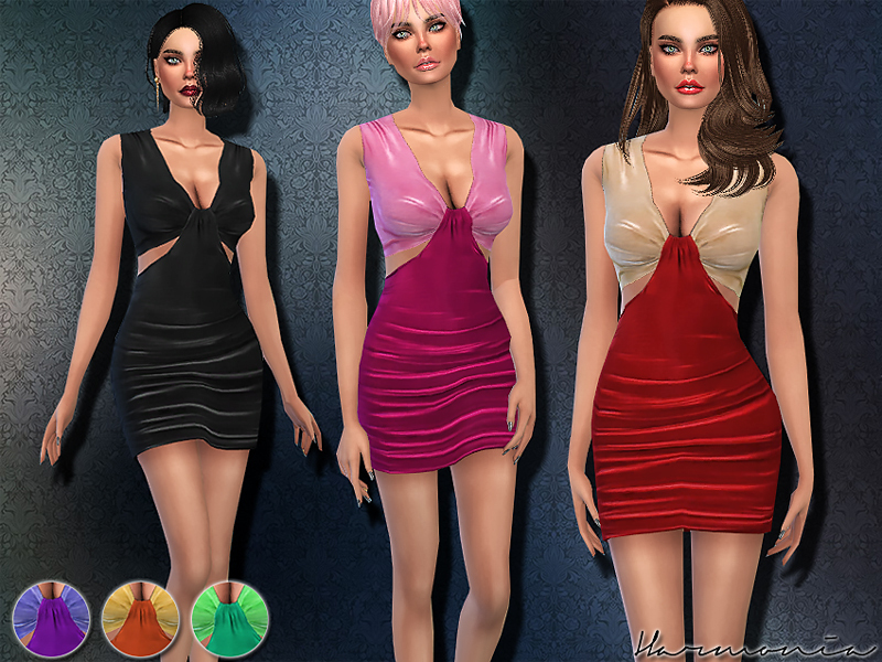 Velvet Cut-out Bodycon Dress  BY Harmonia