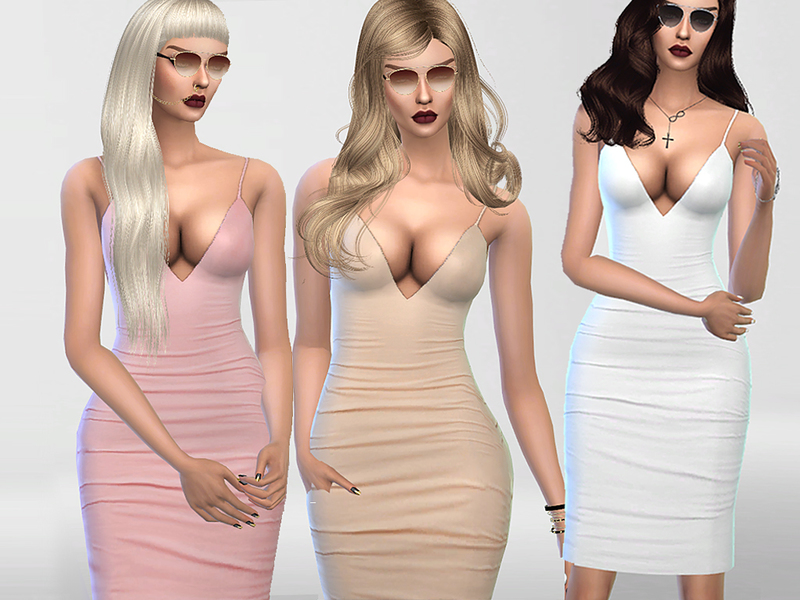 Christmas Party Nude Bodycon Dress BY Pinkzombiecupcakes