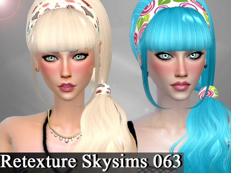 Retexture Hair Skysims 063 BY Genius666