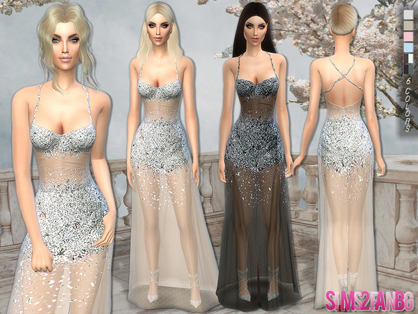 122 - Transparent Crystal Dress by sims2fanbgI