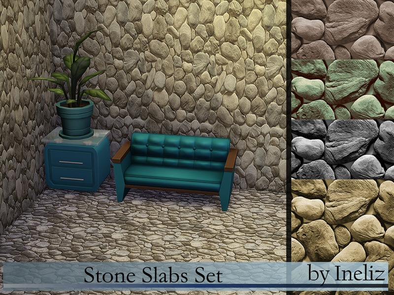 Stone Slabs Set BY Ineliz