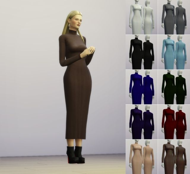 Turtleneck Dresses by Rusty Nail