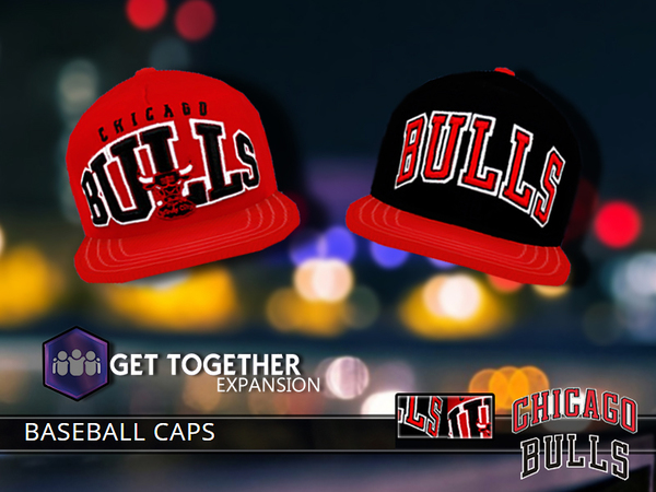 Chicago Bulls Caps by Pinkzombiecupcakes