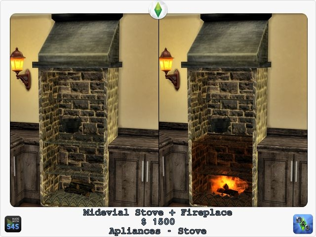 Medieval Stove by Design4Sims