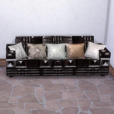 LEATHER SOFA AND PILLOWS By RUDIE55
