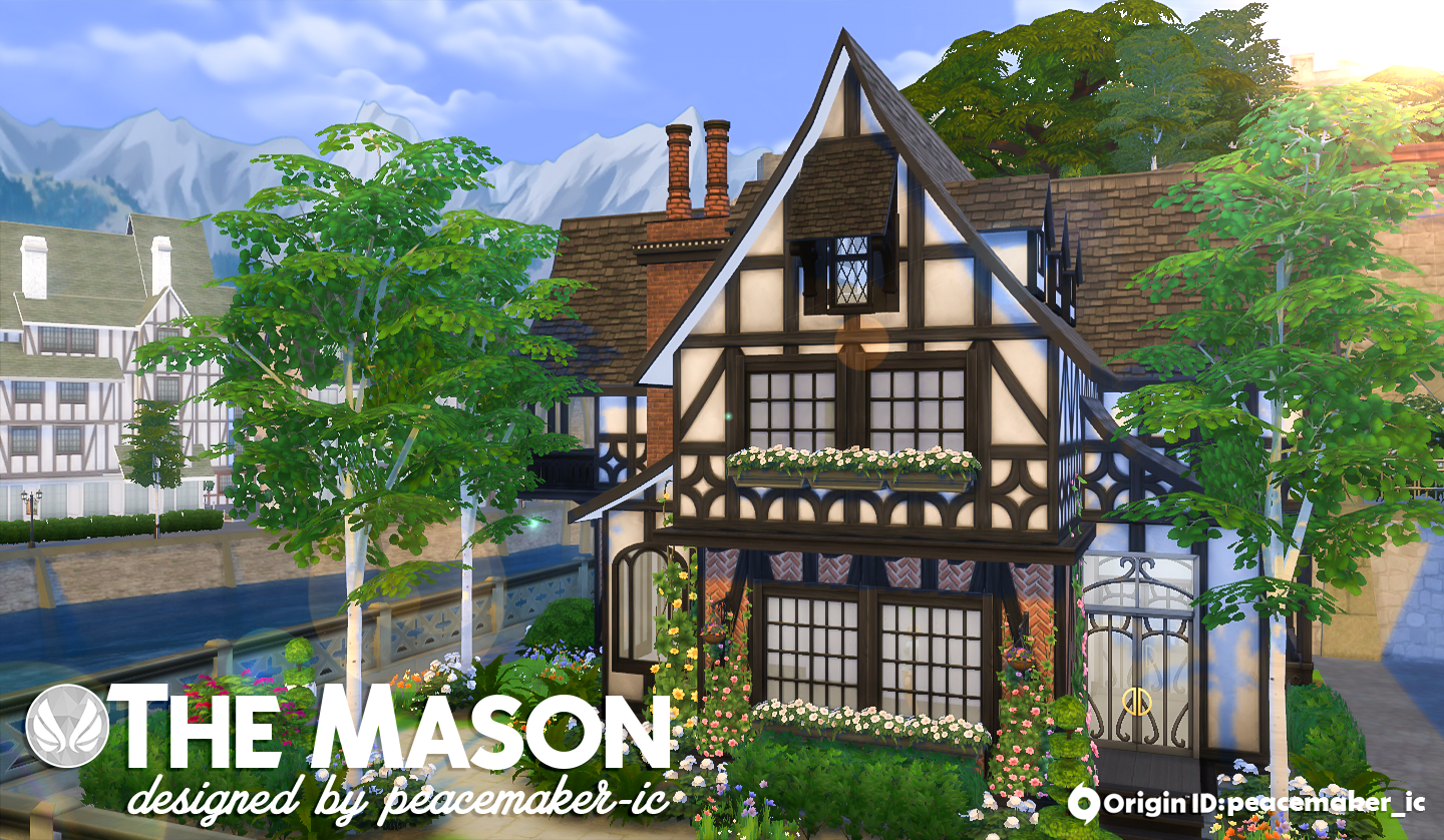 Simsational Designs  Houses and Lots, Residential Lots : The Mason Tudor