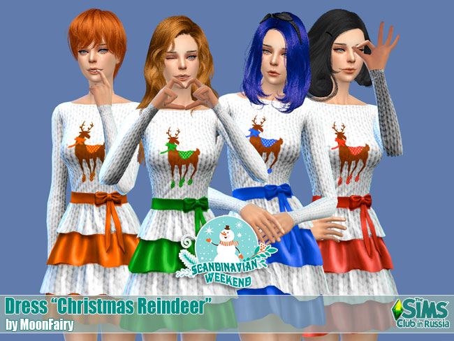 Dress Christmas Reindeer by MoonFairy