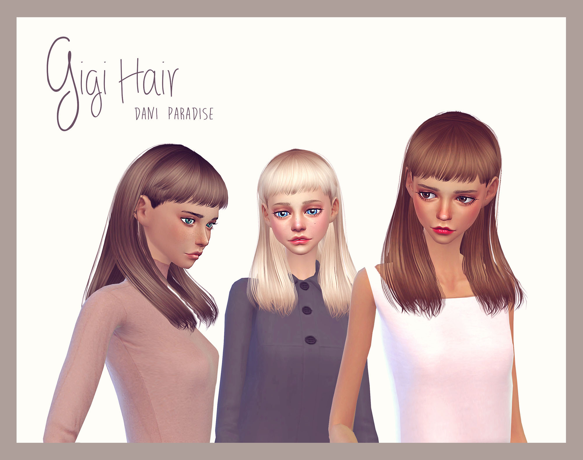Gigi Hair for Females by DaniParadise