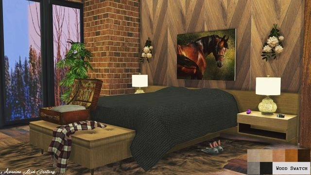 Awesims Mid Century Bedroom Set Conversion by Maximss