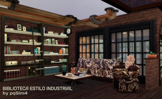 Industrial Style Library Set by pqsim4