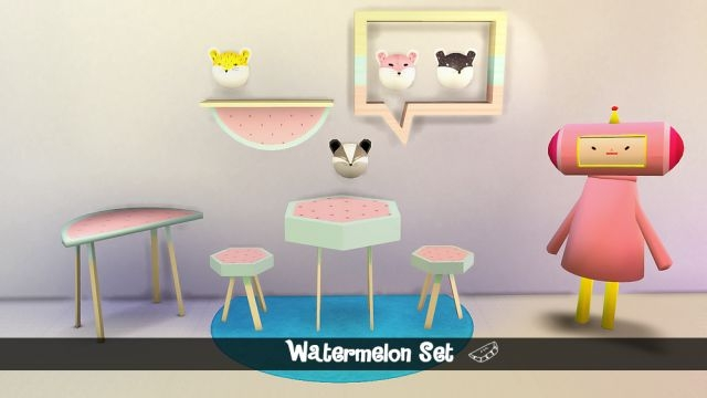 Watermelon Dining Set by MegHewlett