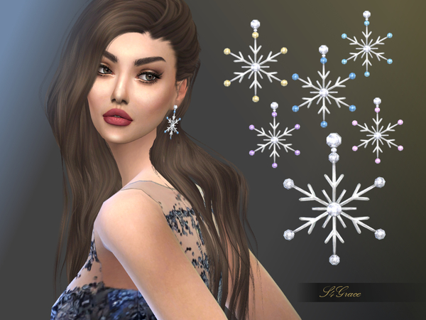 Snowstar Earrings by S4grace