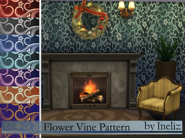 Flower Vine Pattern by Ineliz
