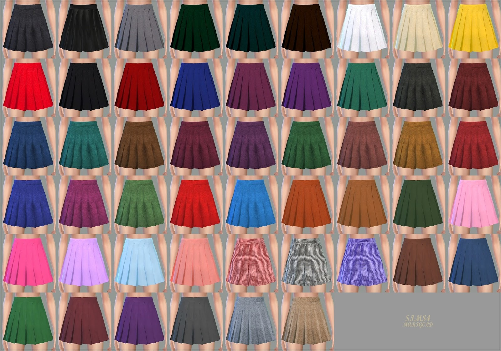 Marigold real pleats mini skirt V1_single color